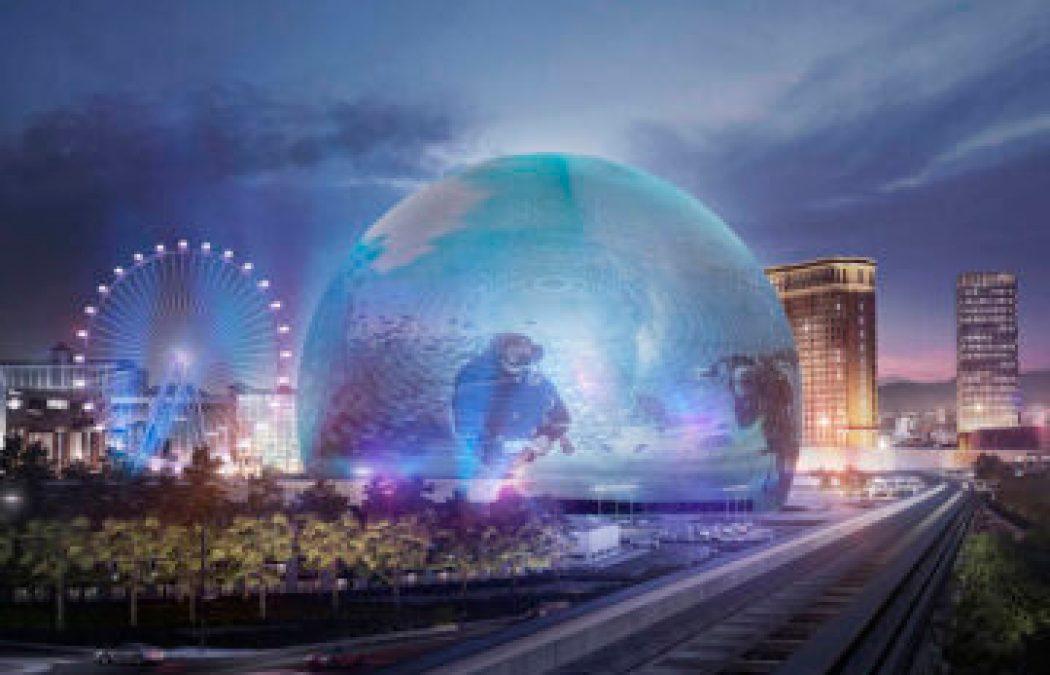 MSG Sphere Las Vegas construction
