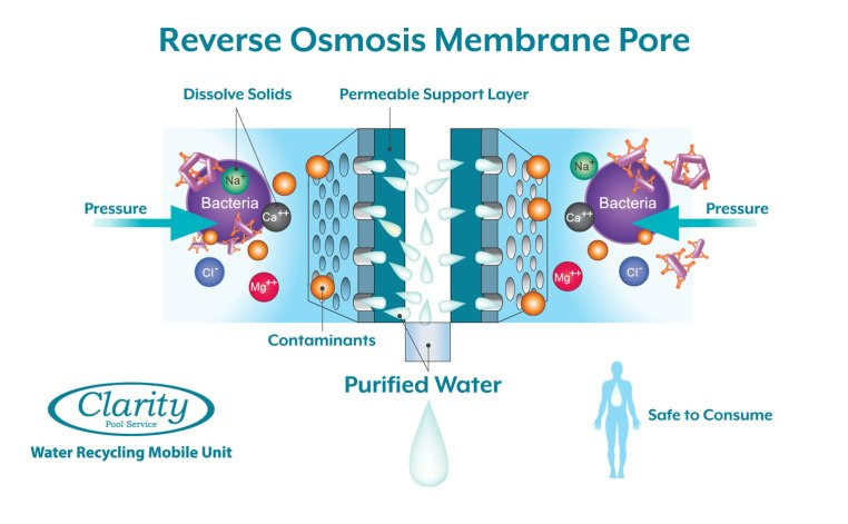 Clarity Pool Service Reverse Osmosis Swimming Pool Water Treatment Info Graphic