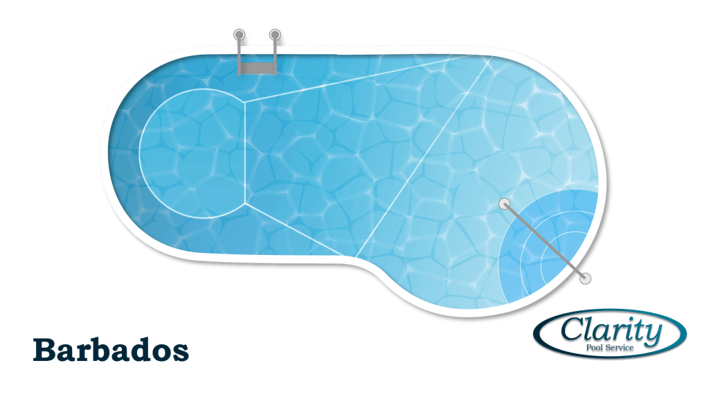 Barbados Style Swimming Pool Shape COnfiguration - Swimming Pool Sample by Clarity Pool Service of Las Vegas, Nevada