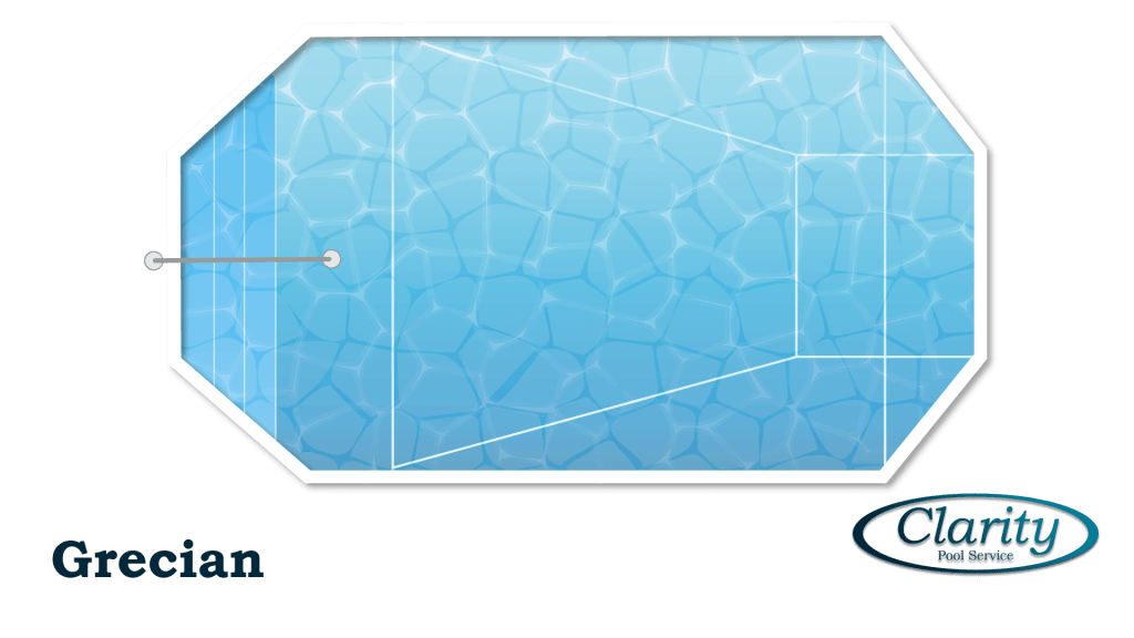 Grecian Shape Swimming Pool Shape COnfiguration - Swimming Pool Sample by Clarity Pool Service of Las Vegas, Nevada