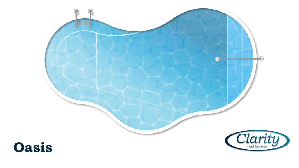 Oasis Shape Swimming Pool Shape COnfiguration - Swimming Pool Sample by Clarity Pool Service of Las Vegas, Nevada