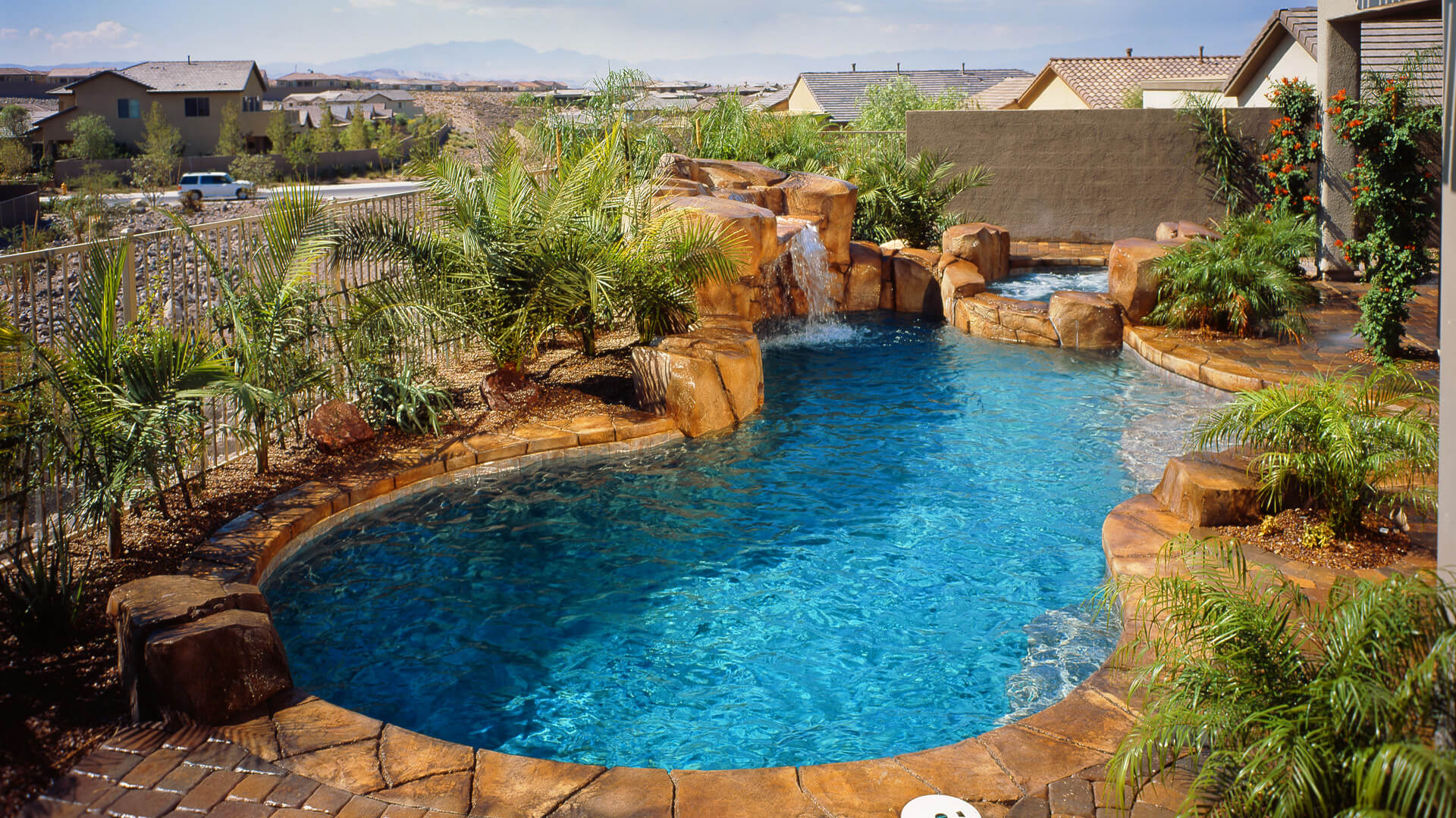 Complete Rockscape Swimming Pool Design