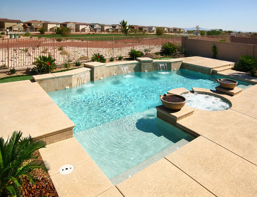 Sheer Waterwall Sample Swimming Pool Design - Las Vegas, Nevada