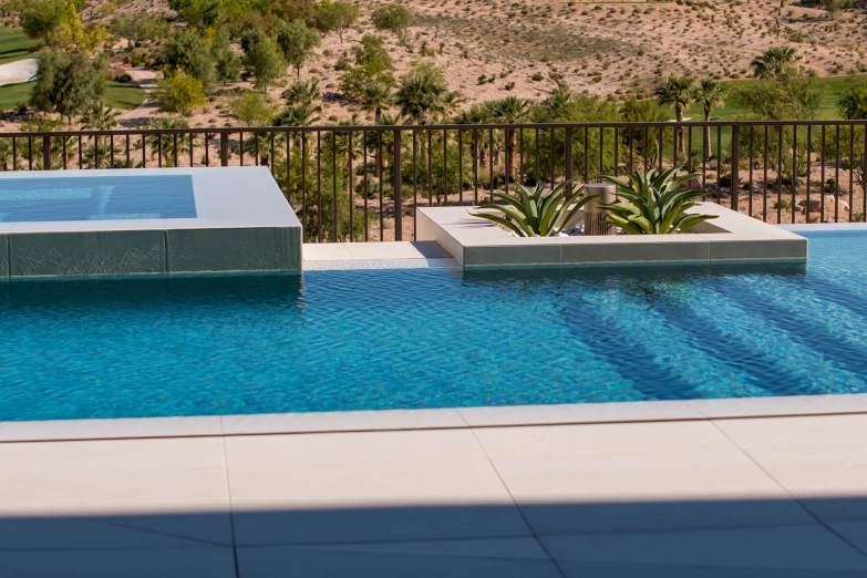 Perimeter-Overflow or Vanishing Edge Custom Swimming Pool Design Feature