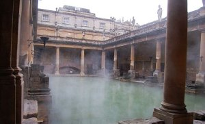 Heated ancient swimming pool