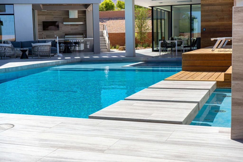 Natural Limestone Floating Step-Stones - Clarity Pool Service of Las Vegas, Nevada