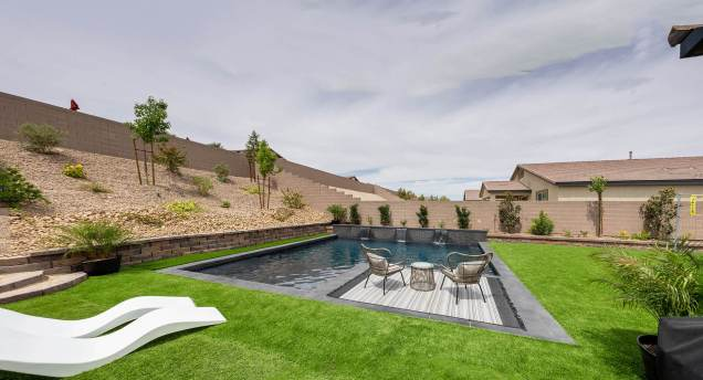 Another Beautiful Custom Pool by Clarity Pool Service of Las Vegas, Nevada