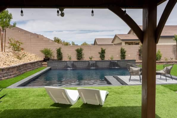 Photo from Underneath Clients Patio Cover - Clarity Pool Service