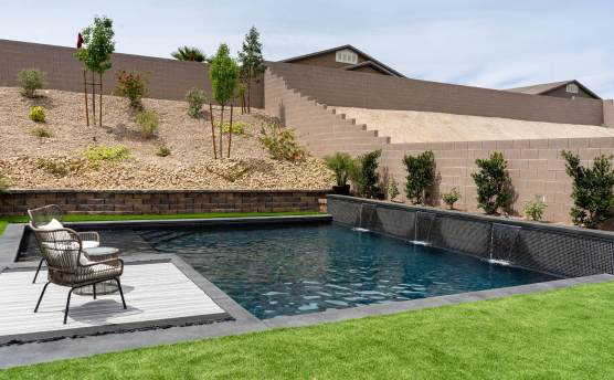 Custom Swimming Pool Design and Contracting by Clarity Pool Service of Las Vegas, Nevada