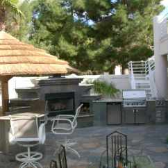 Outdoor Kitchens Las Vegas Kitchen Appliance Brands Complete With Fireplace