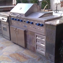 Viking Kitchens Mobile Kitchen Islands Custom Barbecue Island With Stainless Steel Grill ...