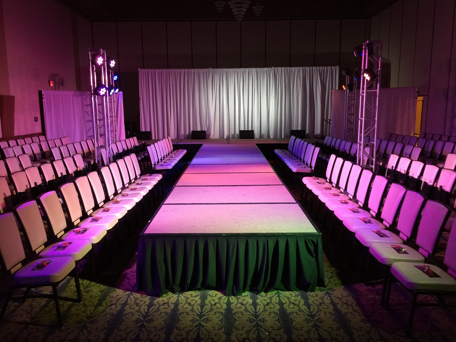 free church chairs leather chair ottoman set themed party rentals - las vegas event production