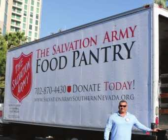 Last week's meeting was our Annual meeting representing a food can contest between the Kiwanis Clubs of Nevada and our club. The beneficiary of our Food Drive contest is the Salvation Army.