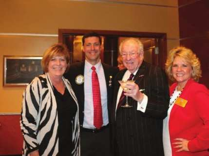 Our speaker was the previous Mayor of Las Vegas Oscar Goodman along with President Dave and the President of the Kiwanis clubs along with Lisa Ferrell (Right).