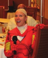 Sargent-at-arms IronWOman (Jaime Goldsmith) introduced our members who announced upcoming projects and events.