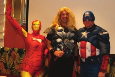 IronWOman, Thor and Captain America closed the meeting with best wishes for a happy Halloween.