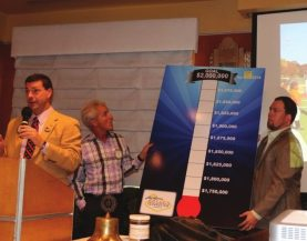 Foundation President Tom Thomas announced our new $2 million dollar goal for the Las Vegas Rotary Foundation.