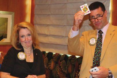Past President Mary Ann misses the joker for $10.