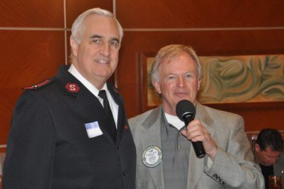 Tom Krob & new Salvation Army Major
