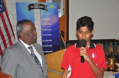 Rampur Vaswanath & grandson Ashak who knows US presidents.