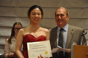 Brock Fraser presents second place award