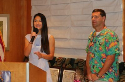President Dave's daughter Maya led us in song.
