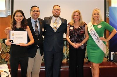 Jackie Thornhill and President Michael presented Paul Harris Fellows to Anil's daughter Mia, and Jaime Goldsmith.