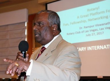Past District Governor Rampur Viswanath introduced us to Rotary Action Groups.
