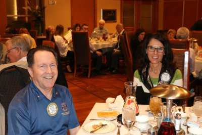 PP Steve Linder and Rosalee Hedrick sat at the presidents table.