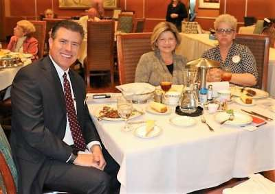 At the head table was our speaker Christopher Lalli, his assistant Audrie Locke and Janice Lencke.
