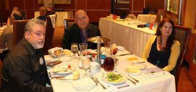 At Michael's head table were our speaker Debra March, Mayor of Henderson, Phil Klevorick from Clark County along with Mike Ballard.