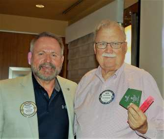 PP Randy Donald awards Lawry Bucks to Pete Samuolis.
