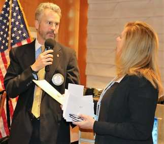 President Jim presented our speaker Kristy Keller with our Share What You Can Award
