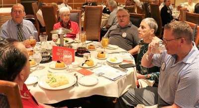 At our birthday table was Brock Fraser, Joan Murdock, Bruce Frazey, Janet Linder and Tom Wolfinger.