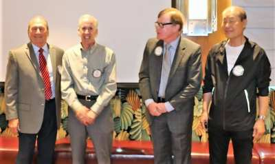 New Paul Harris fellowships were presented to Brock Fraser, Paul Maffey, Larry Rouse and Steve Kwon.
