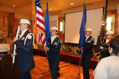 Our colors were retired by the Palo Verde High School ROTC.