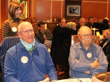 At our monthly birthday table were Steve Casey, Pete Samoulis, Bob Werner and Walt Rulffes.
