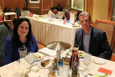 At president Jim's head table was our speaker Roy Kaiser and Cindy Fox of the Nevada Ballet.