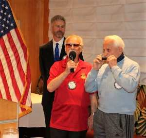 Bob Werner and Jerry Engel performed with song and a harmonica.