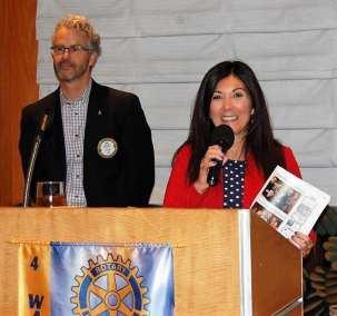 Francesca Gilbert announces Natalie Gilbert won the 4-Way Speech Contest.