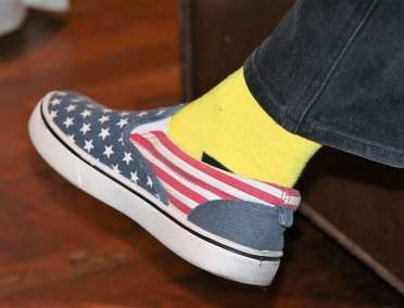 Kirk Holmes was well dressed for Memorial Day…..Nice Shoes.
