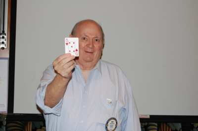 Bob Barnard had the winning ticket but drew the 5 of Hearts.