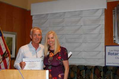 Speaker PP Tom Thomas received the Share What You Can Award from President Jackie Thornhill.
