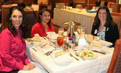 At President Jackie's head table were Rosalee Hedrick, Jimmelle Siarot and our speaker Sarah Robinson.