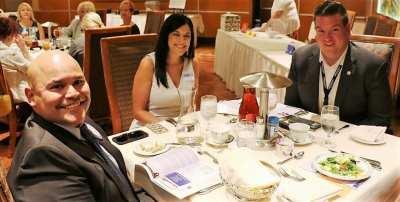 At President Jackie's Head table were our speaker Andrew Bennett, Lynn Wetzel and Rene Gamero.