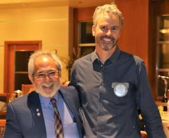 We had two members at the monthly Birthday table Dr. Andy Kuniyuki and PP Jim Kohl.