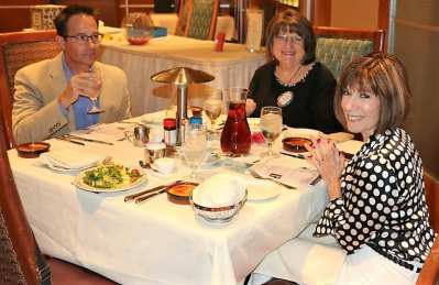 At President Jackie's head table were our Speaker Dr. Spencer Stewart, Tina Bishop and Toni Kern.