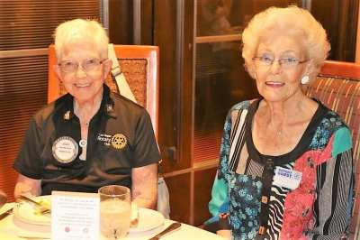 Joan Murdock was joined for lunch by her partner Ruth.