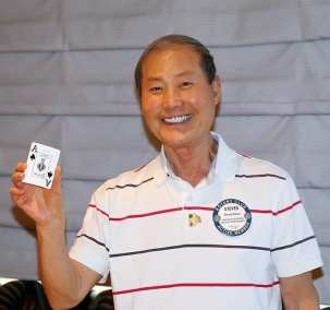 Steve Kwon missed the Joker but picked the $50 Ace.