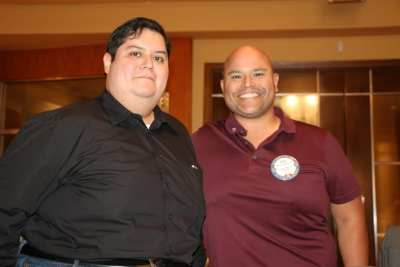 Rene Gamero was joined for lunch with his brother.